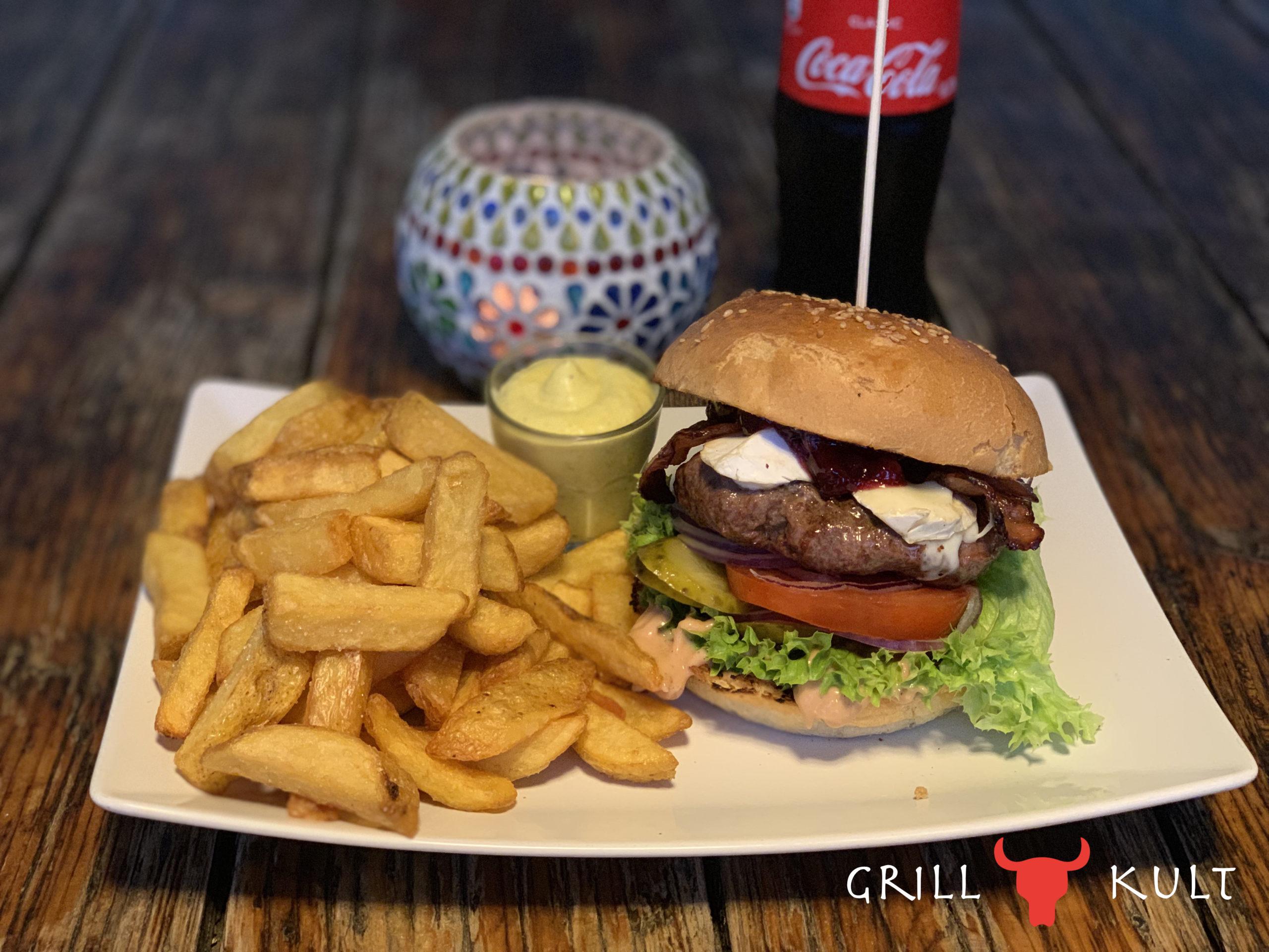 Camemberburger mit Logo