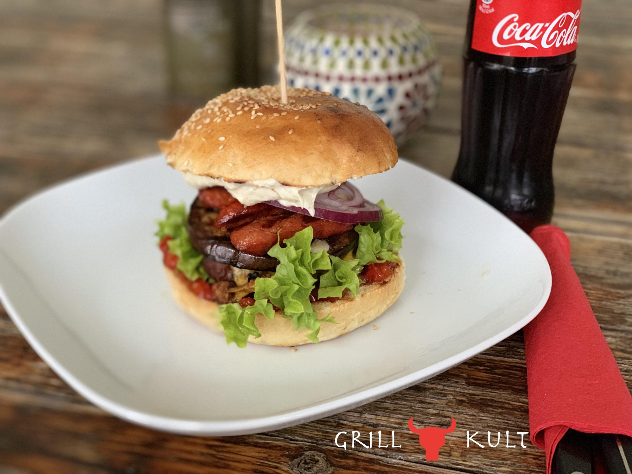 Chorizo Burger mit Logo
